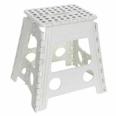 Large Multi-Purpose Fold Step Stool Plastic Home Kitchen Foldable Easy Assorted 4