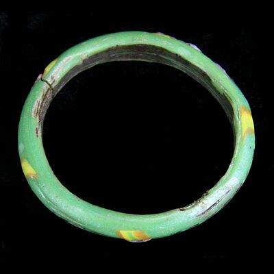 Islamic red, green and yellow glass bracelet. y974 2