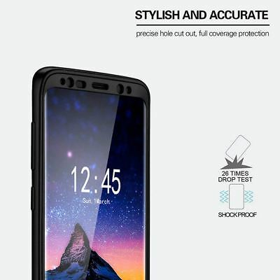 New ShockProof Hybrid 360 TPU Thin Case Cover For Samsung Galaxy S7 edge S8 S9 + 4