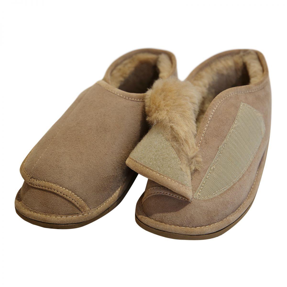 2 von 7 Lammfell Hausschuhe - CHRISTEL Damen Herren Schuhe Klettverschluss f6bb4ae0b0