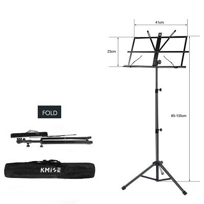 Adjustable Music Stand Holder Foldable Sheet Tripod Base Metal with carry bag 4