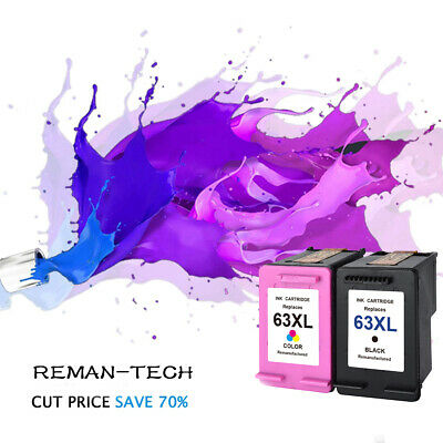 New Chip 63XL Black & Color Ink Cartridge For HP Officejet 5255 5258 3