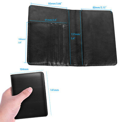 PU Leather RFID Blocking Passport Travel Wallet Holder ID Cards Cover Case 4