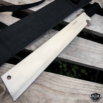 "19"" Jungle Machete Fixed Blade Hunting Knife Military Tactical Survival Sword 5"