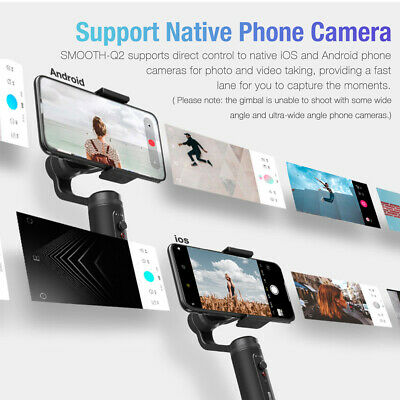 Zhiyun Smooth Q2 MobileGimbal Stabilizer w/360° Rotation For iPhone Samsung 2