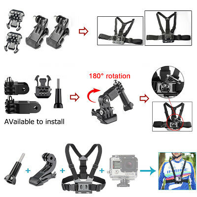 GoPro Accessories Kit Action Camera Accessory set Bundle Chest Strap Head Mount 10
