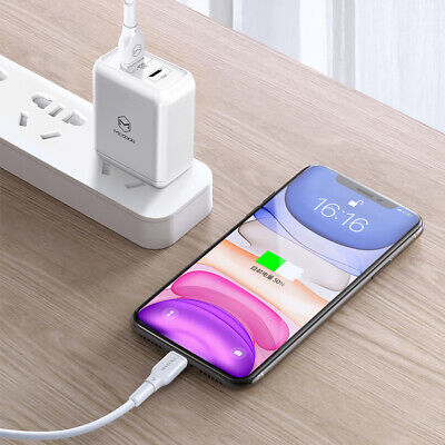 Fr iPhone 11 Pro XS MAX XR 8 7 6S USB-lightning Charging Charger Cable Data Cord 12