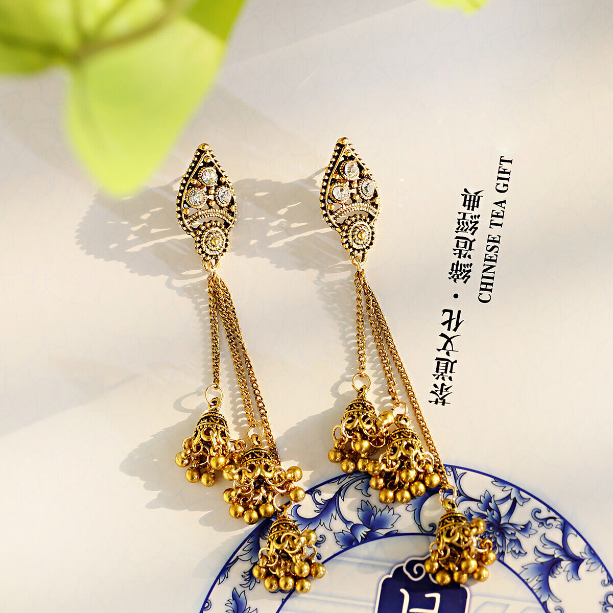Women Jewelry Bohemia Indian Charm Gold&Silver Pendant Fashion Retro Earrings 7