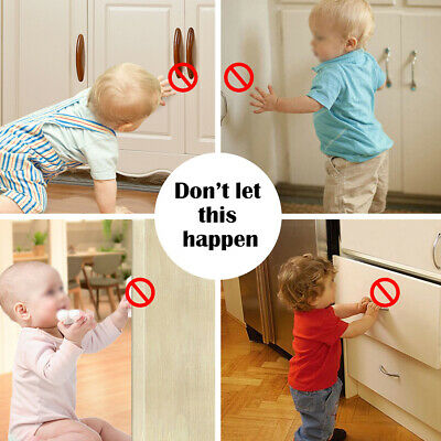 Magnetic Cabinet Locks Child Baby Proof Safety Cupboard Drawer Home Kitchen Door 5