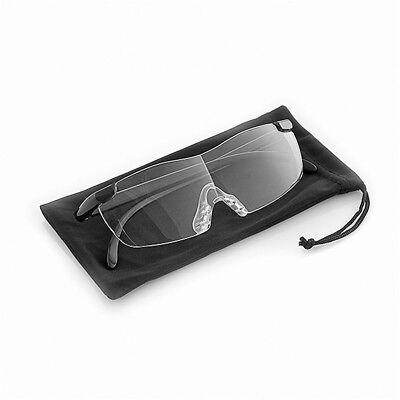 160% Vergrößerungsbrille Lupenbrille Zauberbrille Brille Lupe Vergrößerung Etui 7