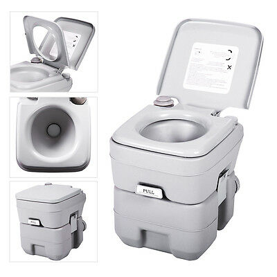 5 Gallon 20L Portable Toilet Flush Travel Camping Outdoor/Indoor Commode Potty 2