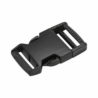 Black Side Release Plastic Buckles Clips For Webbing Bags Straps 10mm to 50mm 3