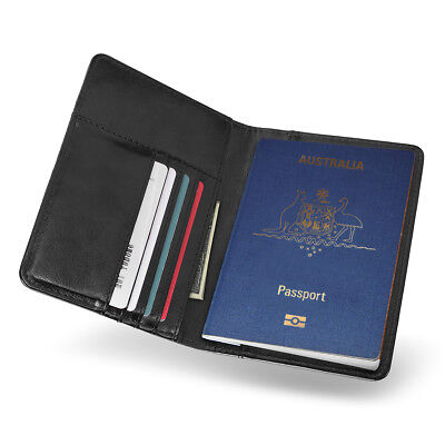 PU Leather RFID Blocking Passport Travel Wallet Holder ID Cards Cover Case 3