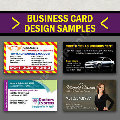 1000 Full Color Business Cards W/ Your Artwork Ready To Print - 2 Sided Glossy 5
