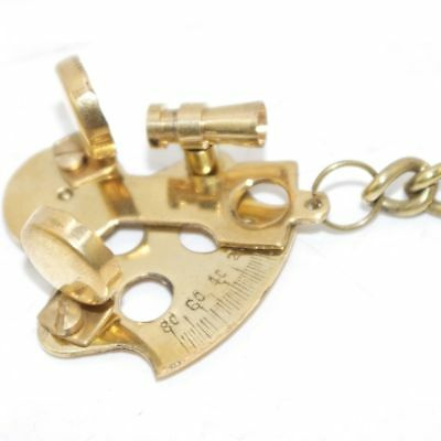 New Sextant Look Brass Nautical Key Ring Keychain Key Fob Key AUS 3