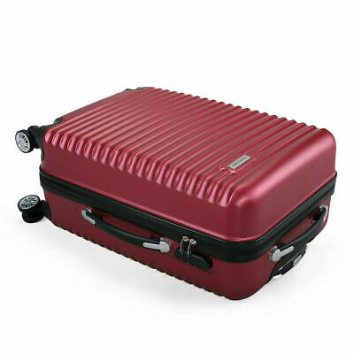 3 Piece Luggage Set Hardside ABS+PC Carry On Bag Travel Trolley Suitcase Spinner 9