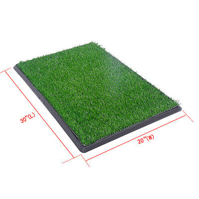 "30""x20"" Dog Toilet Pet Puppy Potty House Training Indoor Trainer Grass Mat 3"