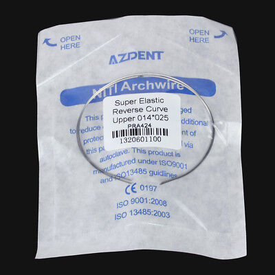 SALE1x Dental Orthodontic Niti Reverse Curve Wire Rectangular Arch Wires AZDENT 4