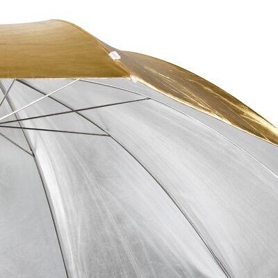 walimex pro 2 in1 Reflexschirm / Studioschirm zum Wenden gold / silber 150cm