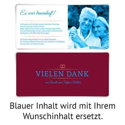 Danksagungskarten Goldene Hochzeit Hochzeitskarten