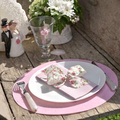 Platzset Tischset Rund 50 Stuck Rosa Deko Hochzeit