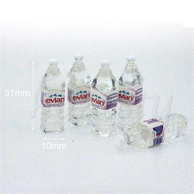 5pcs Mini Mineral Water Bottle 1:12 Dollhouse Miniature Accessory Drinking Toy 2