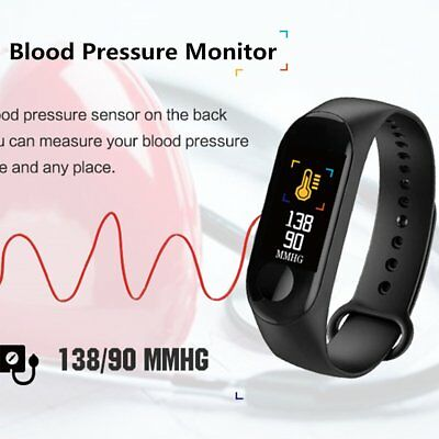 Smart Band Watch Bracelet Wristband Fitness Tracker Blood Pressure HeartRate M3s 3