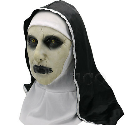 Women Nun Robes Dress For The Conjuring Scary Suit The Nun Valak Cosplay Costume 9