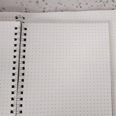 100 Seiten Dot Grid Kraft Cover Coil Journal Notizbuch Schule A5 Designqualität