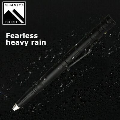 Tactical Pen Emergency Steel Knife Glass Breaker Survival LED Flashlight 7