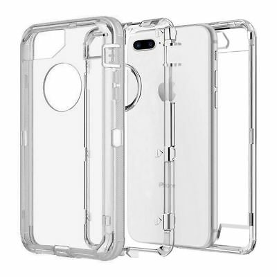 Fit Apple iPhone Clear Transparent Shockproof Protective Armor Heavy Duty Case 8