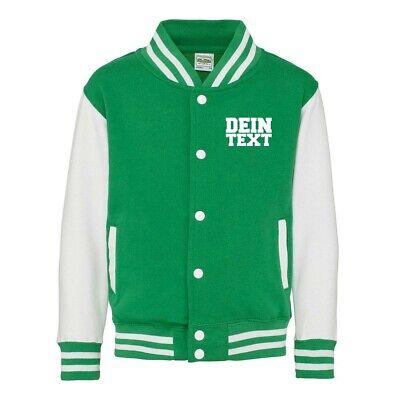 Kinder College Jacke mit Wunschdruck viele Farben Partnerlook Jacken JH043K0.5 4