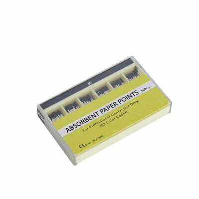 200 Pcs/Pack Dental Material Absorbent Paper Points Sterile Dentist #40 Box Sale 2