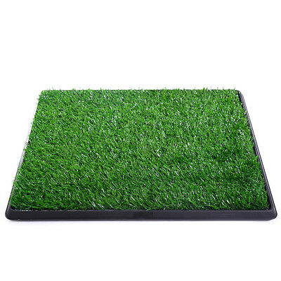 Pet Potty Trainer Grass Mat Dog Puppy Training Pee Patch Pad In&Outdoor Toilet