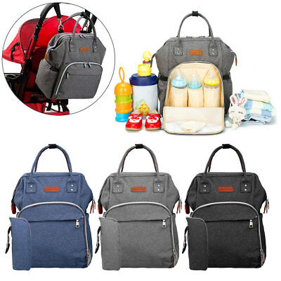 Multifunctional Baby Diaper Nappy Backpack Waterproof Large Changing Mom Bag 2