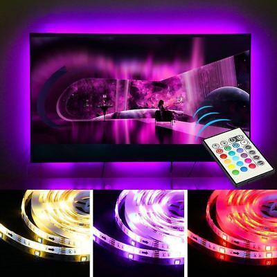 5V 1M-5M Usb Power Led Strip Lights Tv Back Rgb Colour Changing + Remote Control 8