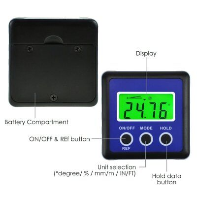 Digital Protractor Angle Finder Bevel Box Inclinometer Magnetic Base Carpentry 4