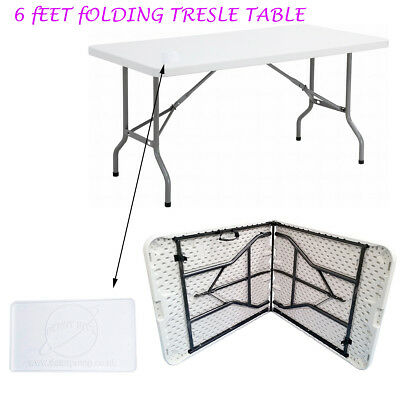 6FT HEAVY DUTY 1.8 Meter FOLDING CATERING CAMPING TRESTLE TABLE BBQ PICNIC PARTY 3