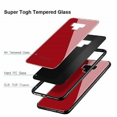 Samsung Galaxy S10 S9 Plus S10e Note 9 Case Slim Bumper Cover Tempered Glass 8