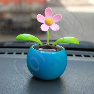 ac406197d2dea ... Solar Power Flip Flap Flower For Car Decoration Swing Dancing Flower Toy  Gift 4