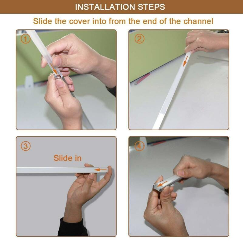 6pcs/12pcs 3.3ft DIY Aluminum Channel Holder W/Cover&Mount For LED Light Strip 10