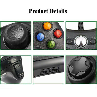 Wired / Wireless Game USB Controller Gamepad Joystick For Microsoft Xbox 360 &PC 4