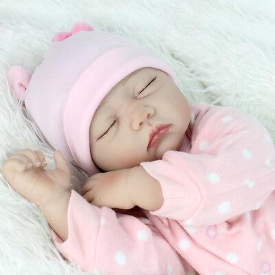 22'' Lifelike Reborn Baby Girl Doll Handmade Newborn Dolls + Clothes Xmas Gifts 2
