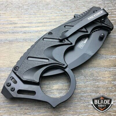 """8"""" Tac-Force Spring Open Assisted Folding Tactical Pocket Knife Karambit Claw 4"""