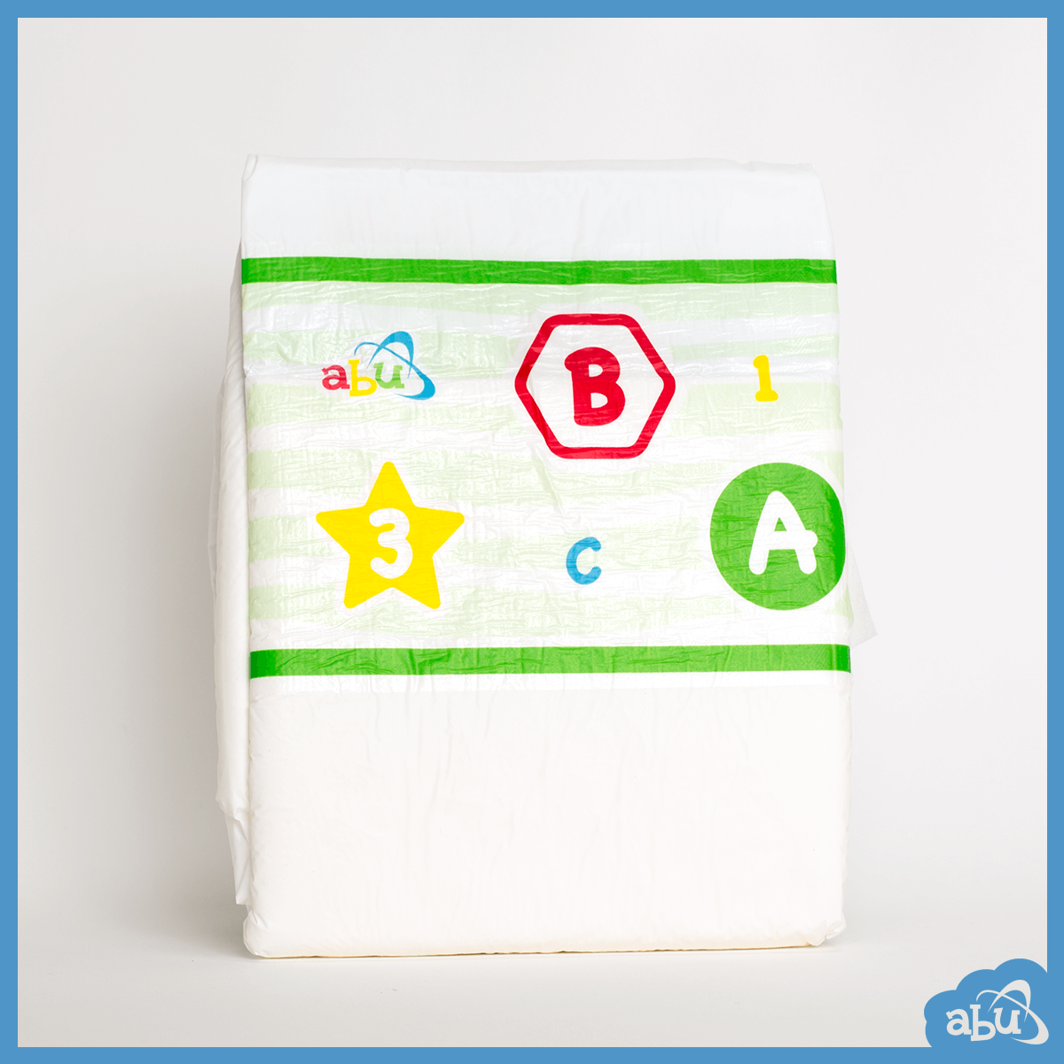 ABUniverse ABU PreSchool Plastic Backed Diapers Nappies ABDL - Pack of 10 2