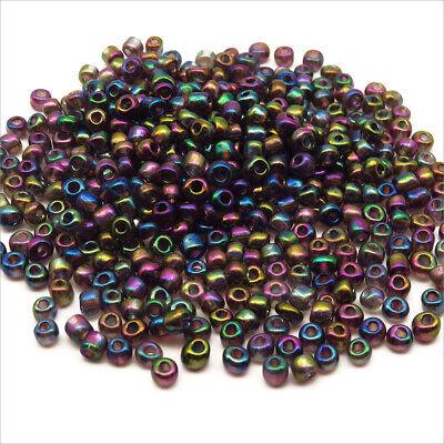 Perles de Rocailles en verre Opaque 4mm Irisé - Lot de 20g - Environ 250pcs 2