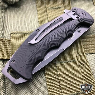 "8.5"" Military Tactical Spring Assisted Open Tanto Folding Blade Pocket Knife 4"