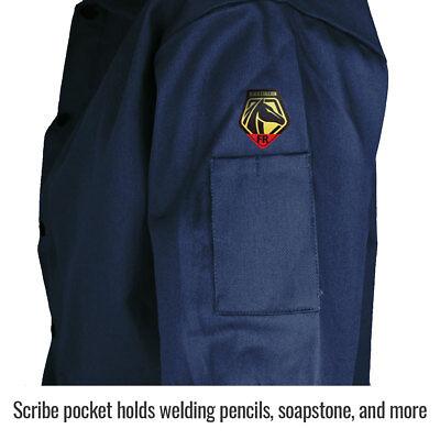 "Revco Black Stallion 30"" 9 oz Cotton FR Navy Welding Jacket Size 2XL"