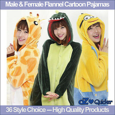 Adult Fleece Unisex Kigurumi Animal Onesie Pajamas Cosplay Costume Sleepwear 2