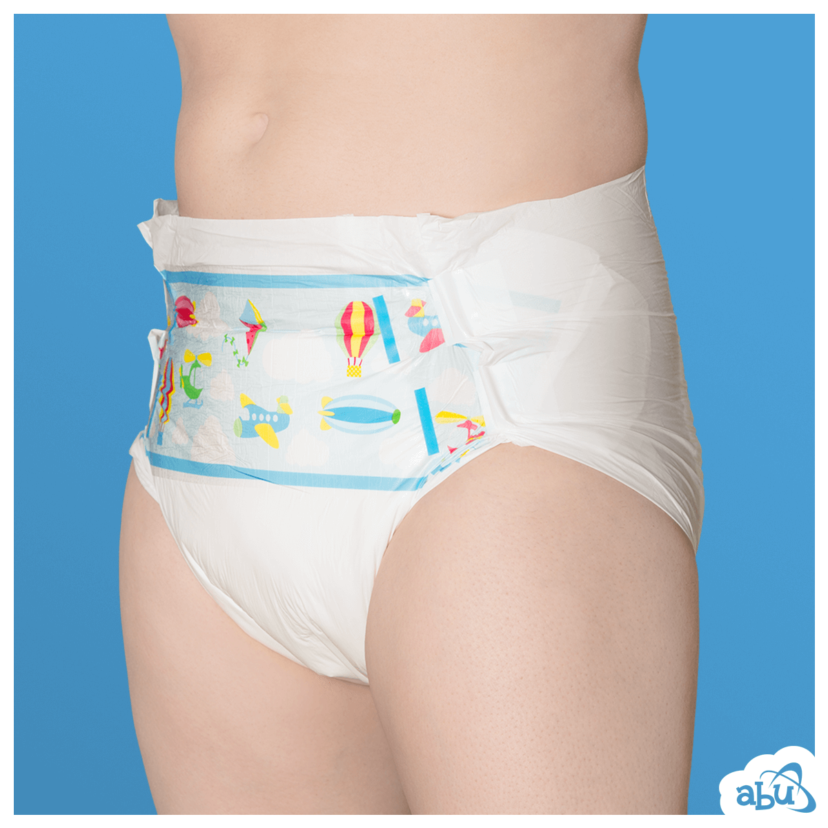 ABUniverse ABU PreSchool Plastic Backed Diapers Nappies ABDL - Pack of 10 9